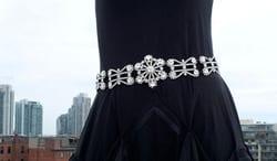 Suzi Roher Women's Fashion Belt with Swarovski Crystals
