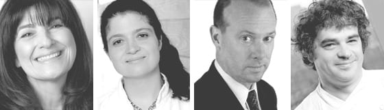 Ruth Reichl, Alex Guarnaschelli, Sam Sifton and Brooks Headley
