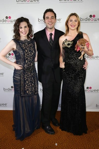 NEW YORK, NY - JUNE 09:  (L-R) Rachel Stange, Chris Dieman and Kristin Martinez Jones attend the Bideawee Masquerade Ball at Gotham Hall on June 9, 2014 in New York City.  (Photo by Neilson Barnard/Getty Images for Bideawee)