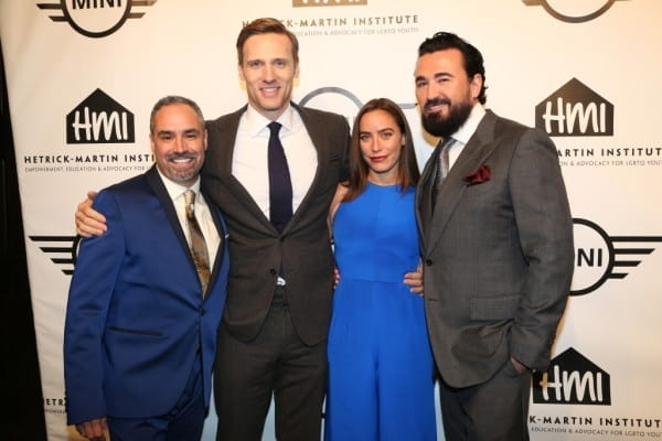 Chris Salgardo (President of Kiehl's USA), HMI CEO Thomas Krever, Teddy & Melissa Sears