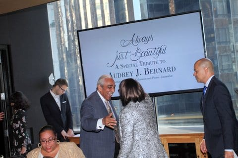 TRIBUTE PHOTO 2-Congressman Charles B. Rangel (l) and David Ushery (r) with Audrey
